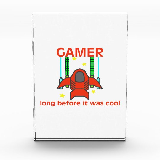 Gamer Before It Was Cool Retro Style Acrylic Award
