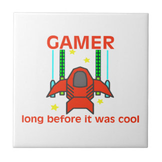 Gamer Before It Was Cool Retro Style Ceramic Tile