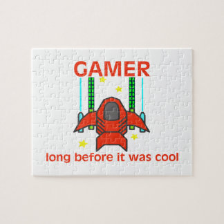 Gamer Before It Was Cool Retro Style Jigsaw Puzzle