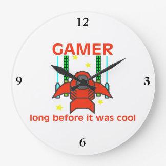 Gamer Before It Was Cool Retro Style Large Clock