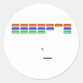 Gamer - Brick Shooting Classic Round Sticker
