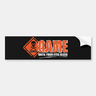 Gamer bumper sticker, let them know you're a gamer bumper sticker