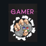 "Gamer Canvas Print<br><div class=""desc"">I wish you like the design and colors , it designed to gamers can be an add to you room decoration and stream.</div>"