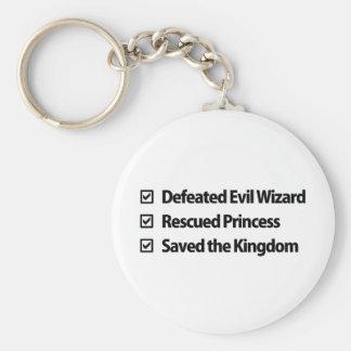 Gamer Checklist Keychain
