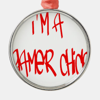 Gamer Chick (Chick) Metal Ornament
