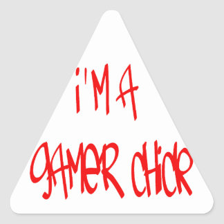 Gamer Chick (Chick) Triangle Stickers