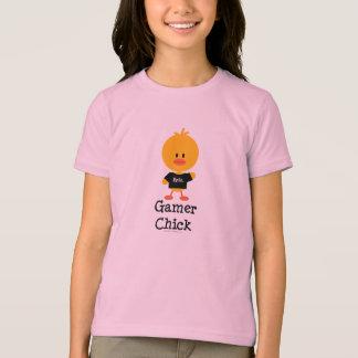 Gamer Chick Kids Ringer T shirt