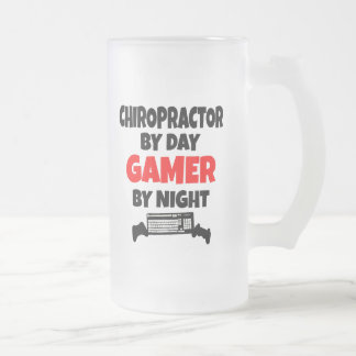 Gamer Chiropractor Frosted Glass Beer Mug