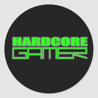 Gamer Classic Round Sticker