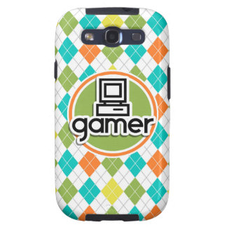 Gamer; Colorful Argyle Pattern Samsung Galaxy S3 Cases