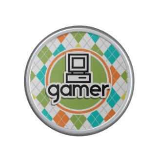 Gamer; Colorful Argyle Pattern Speaker