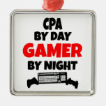 Gamer CPA Square Metal Christmas Ornament