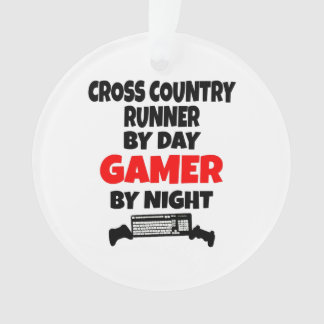 Gamer Cross Country Runner Ornament