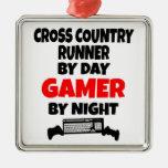 Gamer Cross Country Runner Ornaments