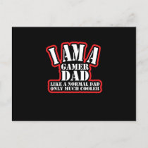 Gamer Dad, Only Much Cooler Gaming Father Gamer Holiday Postcard