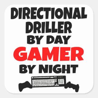 Gamer Directional Driller Square Sticker