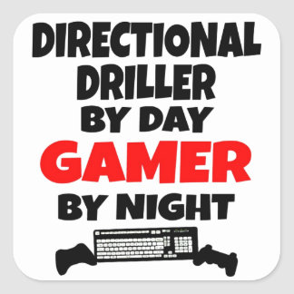 Gamer Directional Driller Square Sticker