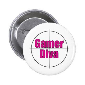 Gamer Diva Pin