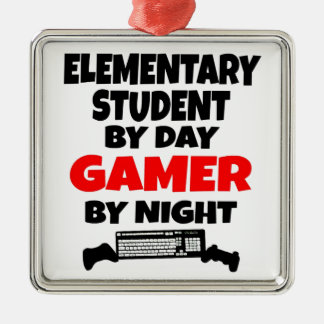 Gamer Elementary School Student Metal Ornament