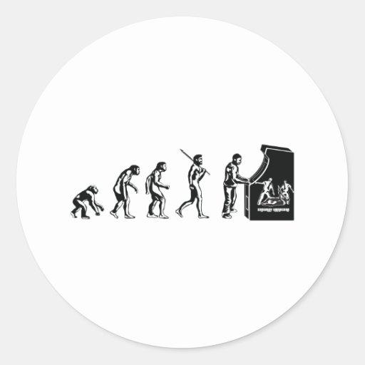 Gamer Evolution - Game Video Games Arcade Geek Stickers