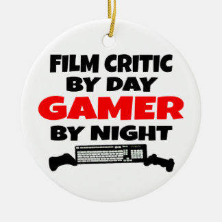 Gamer Film Critic Ceramic Ornament