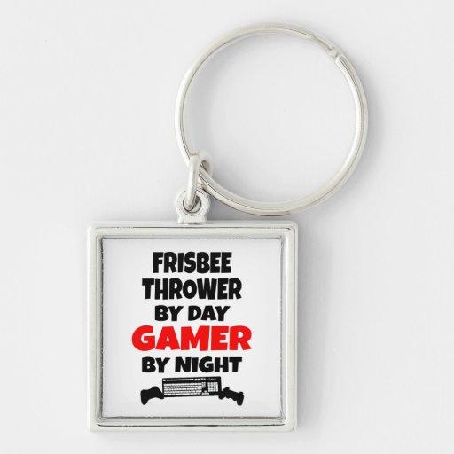 Gamer Frisbee Thrower Keychains