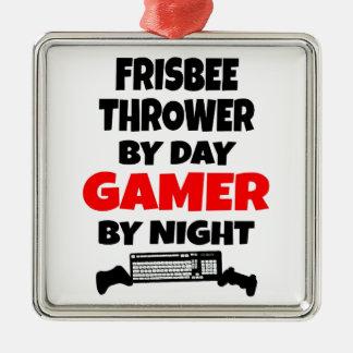 Gamer Frisbee Thrower Metal Ornament