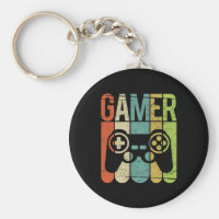 Gamer Game Controller Keychain