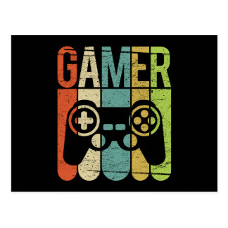 Gamer Game Controller Postcard