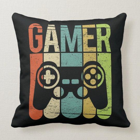 Gamer Game Controller Throw Pillow Zazzle Com
