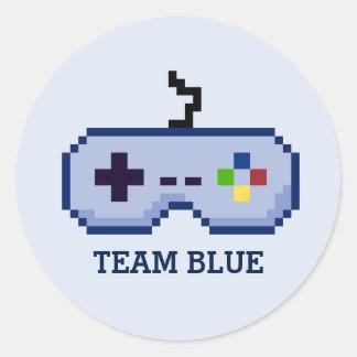 Gamer Gender Reveal Team Blue Stickers