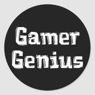 Gamer Genius Classic Round Sticker