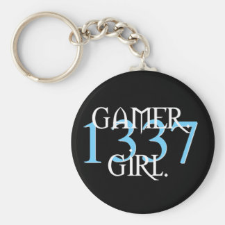 Gamer. Girl. 1337 Keychain
