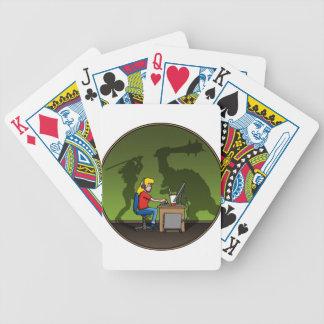 gamer girl baraja de cartas
