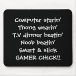 gamer girl chick rhyme mouse pad