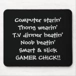 gamer girl chick rhyme mousepads