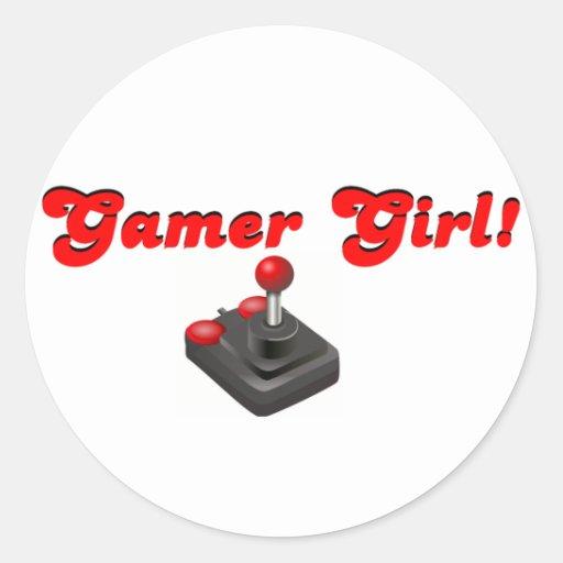 Gamer Girl Classic Round Sticker