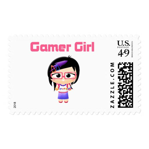 Gamer Girl Cutie Patootie Postage Stamps