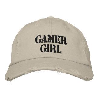 Gamer Girl Distressed Baseball Cap