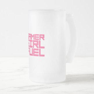 GAMER GIRL FUEL FROSTED GLASS BEER MUG