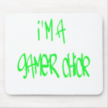 Gamer Girl (Green) Mouse Pads