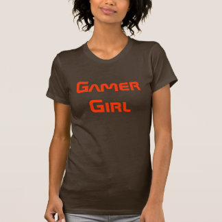 Gamer Girl Shirt Brown and Orange