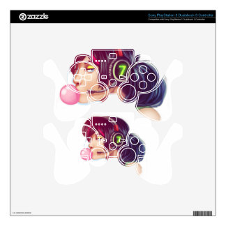 Gamer Girl Skins For PS3 Controllers