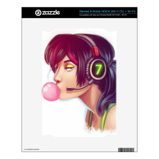 Gamer Girl Decals For The NOOK