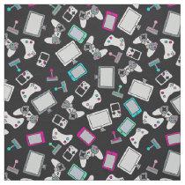 Gamer Girl Video Games Gaming Pink Black Fabric