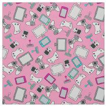 Gamer Girl Video Games Gaming Pink Fabric