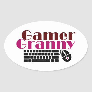 Gamer Granny Oval Sticker