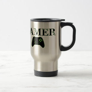 GAMER (Green) Travel Mug