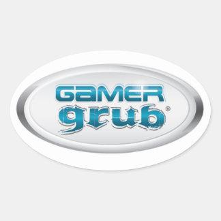 Gamer Grub Oval Sticker