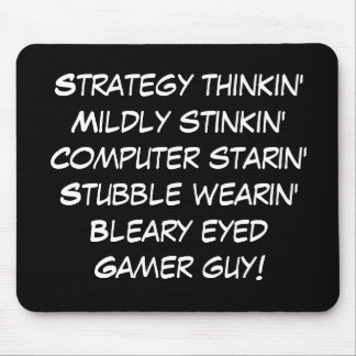 gamer guy rhyme! mouse pad